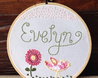 Bird Seed . Custom Embroidery Hoop