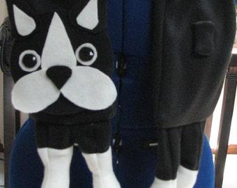 Boston Terrier - Fleece Scarf - Fleece Sewing Pattern - Dog Scarf Pattern - Boston Terrier Scarf - Boston Terrier Pattern - Dog Pattern