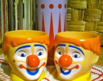 Vintage circus mugs clown Barnum and Bailey Circus Rainbow Souvenir mugs 3