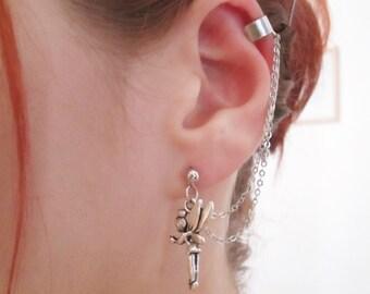 Magical fairy ear cuff with chain