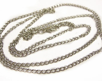 4 of 32 inch nickel look ready to wear necklace chain-9319