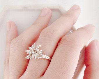 Snowflake Silver Ring
