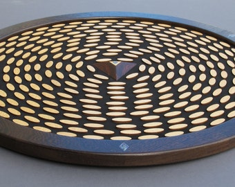 Radiolarian Wooden Wall Sculpture, Mixed Media