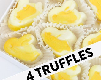 Lemon Elderflower Truffles | Royal Wedding Truffles | 4 per box | White chocolate elder flower chocolates