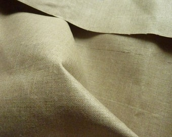 1.20 m glossy Greige linen fabric * 0.62 m * old stock