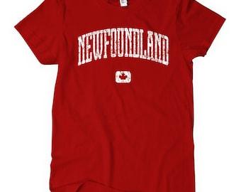 Women's Newfoundland Canada T-shirt - S M L XL 2x - Ladies' Newfoundland  Tee, Newfoundland  Gift, Newfie, St. John's, Labrador City Vintage