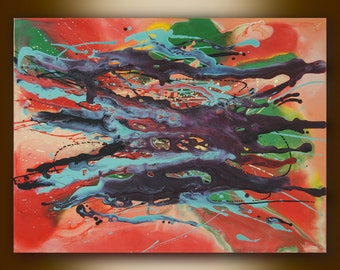 Original Abstract painting, Acrylic Canvas Art, Contemporary Modern Fine Art,  Large painting, Colorfil art,  23.6 x31.5 in / 60 x 80 cm