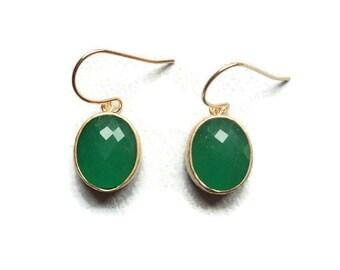 Jade earrings Green earrings Jade drop earrings Green jade earrings Jade jewelry green glass earrings Bridesmaid earring Drop earring Dangle