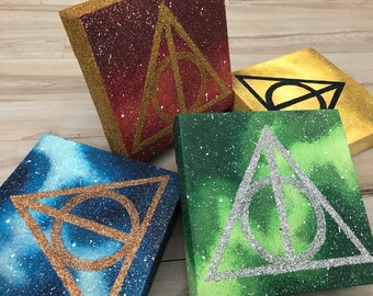 """""""Glittering Hallows"""" - Freestanding Painted Canvases Inspired by Harry Potter - Five Variants Available"""