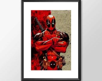 Deadpool - Digitally Painted Tribute - Buy 2 get 1 Free
