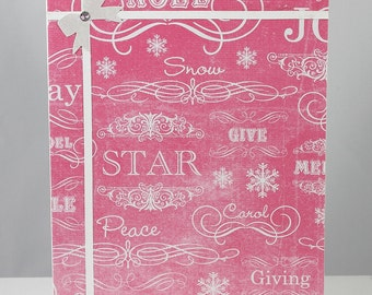 Pink Package Christmas Card