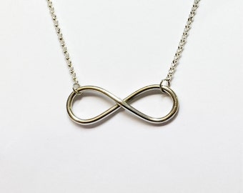 Silver Infinity Knot Necklace
