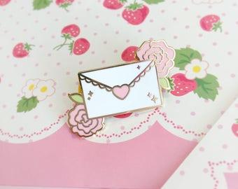 Sweet Love Letter -Enamel Pin