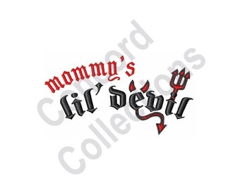 Mommys Lil Devil - Machine Embroidery Design