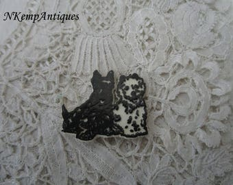 Vintage dog pin scotty dog