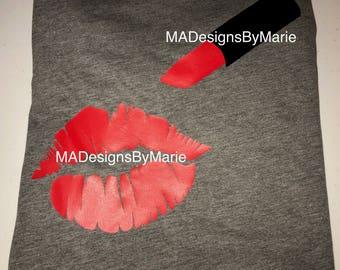 Lips and Lipstick Shirt