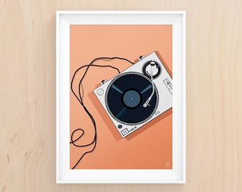 You Spin Me Right Round - Illustration - Printable Art