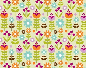 Little Matryoshka - Floral Green - Riley Blake Fabrics - Carly Griffith - By The Yard