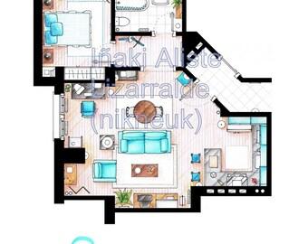Jerry Seinfeld's Apartment Floorplan from SEINFELD