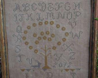 Penny Tree Farm Sampler - Cross Stitch pattern by The Pinkeep - SALE!!