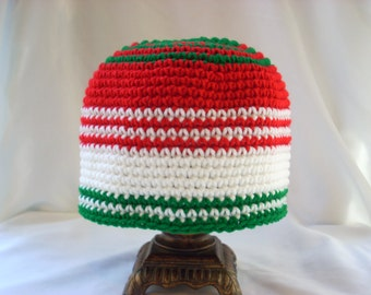 Teen Christmas Crochet Winter Holiday Hat, Gifts for Teens, Boy Girl Beanie