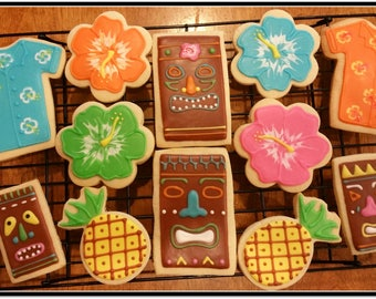 Luau Cut Out Sugar Cookies 1 Dozen
