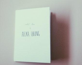 Alexa Chung | Mini Zine | Instant Download