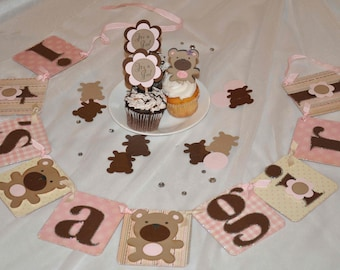 Baby Shower Decoration - Teddy Bear It's a girl banner
