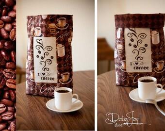 cross stitch coffee bag
