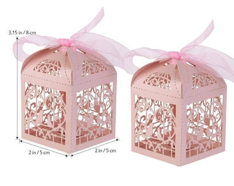 50pcs,Love bird Love  heart candy box  Candy Box Treat Boxes  Birthday Boxes  Party Boxes Birthday Party Gift Box Favor Boxes -Wedding Favor
