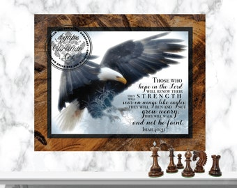 Digital Download | Isaiah 40:31 | Christian Wall Art | Bible Verse | Home Decor | Scripture Art Print | Soar On Wings Like Eagles
