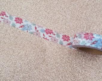 Poinsettia Washi Tape// Christmas Washi Tape// Flower Craft Tape