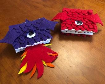 Fuzzy Dragon Journal w/ Clasp