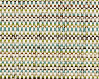 Teal Tweed Upholstery Fabric for Furniture - Green Ivory Woven Fabric - Aqua Home Decor - Heavyweight Upholstery Fabric - Custom Teal Pillow