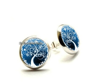 Snow Flurry Earrings, tree earrings, tree jewelry, tree jewellery, snow earrings winter jewelry, Hypoallergenic Earrings for Sensitive Ears