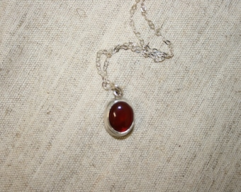 Carnelian Silver Necklace,Silver Nacklace , 925 Sterling Pendant, Silver Jewelry, Handcrafted Pendant, Free Shipping,