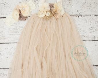 rustic champagne flower girls dress, flower girl dresses, tutu flower girl dress, burlap flower girl dress, flower girl dress, toddler