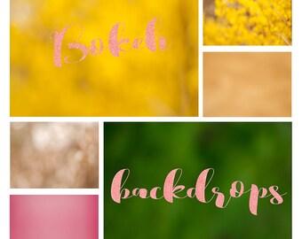 Colorful bokeh backdrop overlays!
