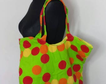 Spot Large Tote, Women's Tote, Women's Large Bag, Fabric Tote Bag, Eco Bag, Cotton Tote Bag, Reusable Bag, Large Handbag, Large Tote Bag