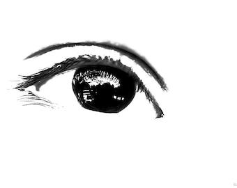 Abstract Photography PRINT, Single Eye, Wall Art