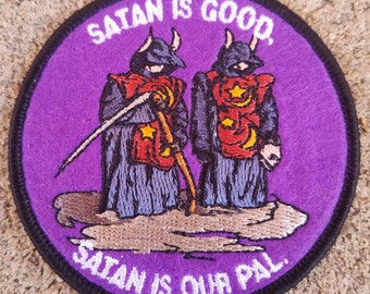 "The Burbs - Satan Is Good, Satan Is Our Pal Embroidered Felt 3"" Iron On Patch"
