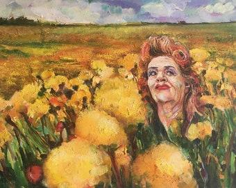 Sunflowers Oil Painting Original