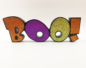 Gerson Halloween Decor - Table Top Word Sign (Boo)