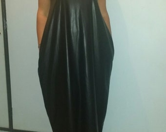 Maxi Dress Leather look for all occasions not just summer #LTG Range. Length can be adjusted also Longer/ Shorter if made to order.