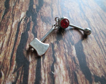 belly button ring ax belly jewelry peircing belly ring
