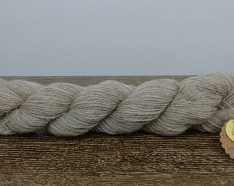 Oatmeal Hand Spun 100% Wool Yarn (200yds)