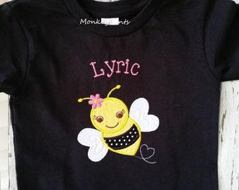 Bumble Bee Shirt Girl - Bumble Bee Birthday Shirt - Baby Girl Bumble Bee Bodysuit - Halloween Costume