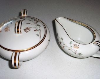 Noritake Florence Creamer & Sugar Bowl