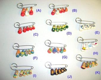 Ten Doll Pins