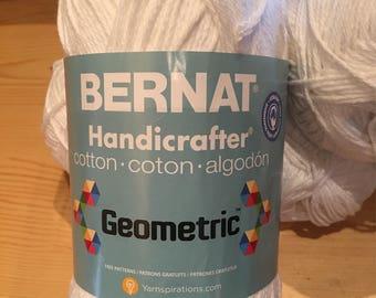 Bernat Handicrafter Geometric Cotton Yarn 5 Skiens White